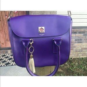 Kate Spade purple messenger purse